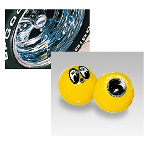 Mooneyes yellow ball air valve stem caps with moon eyes for Moon valley motor care