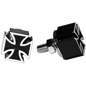 IRON CROSS License Plate Bolts - BLACK
