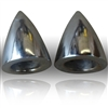 Wiper Bolt Covers Chromed Aluminum Bullet