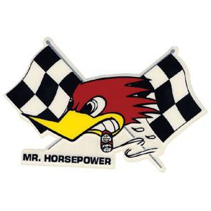 Mr. Horsepower with Flags Decal