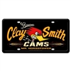 Genuine Clay Smith Cams License Plate - Black