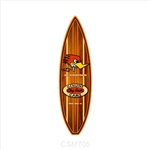 Clay Smith Woodie Surfboard Metal Sign