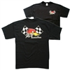 Mr. Horsepower Checkered Flags T-shirt - Black