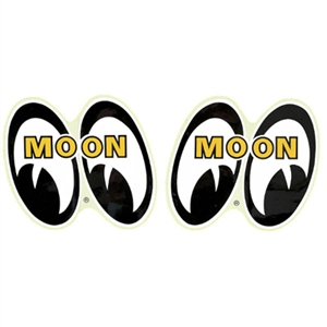 Pair of mooneyes stickers small for Moon valley motor care