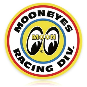 Mooneyes racing division sticker for Moon valley motor care