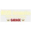 MOON Automotive Garage Decal