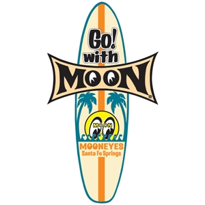 Go with moon surfboard decal for Moon valley motor care