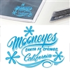 MOONEYES California Pinstripe Sticker - Blue