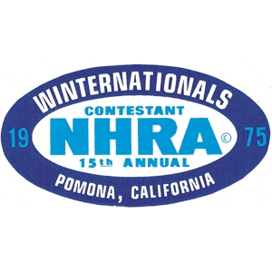 Nhra 1975 winter nationals decal for Moon valley motor care