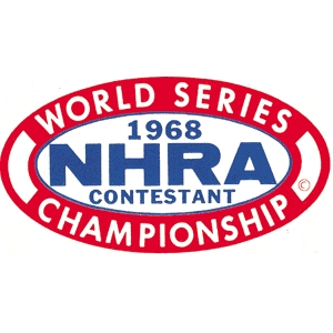 Nhra 1968 world series contestant decal for Moon valley motor care
