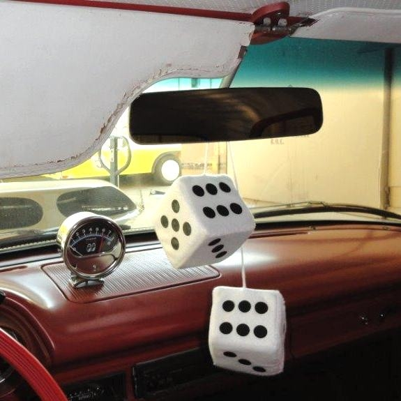 Classic Hanging Fuzzy Dice Hot Rod Interior Accessories