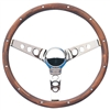 Walnut Chrome Spoke Steering Wheel