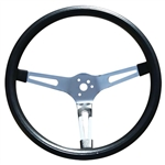 GT Classic 15-inch Slotted Spoke Foam Grip Steering Wheel