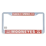 MOONEYES Santa Fe Springs License Frame (Red)