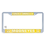 MOONEYES Santa Fe Springs License Frame (Yellow)