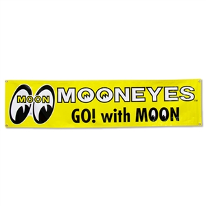 Official mooneyes go with moon vinyl banner for Moon valley motor care