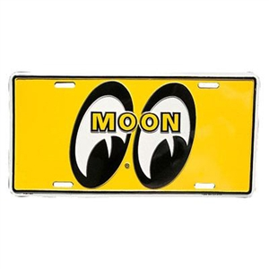 License plate moon logo for Moon valley motor care
