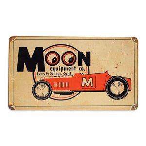 MOON Equipment Co. Roadster Vintage Style Metal Sign