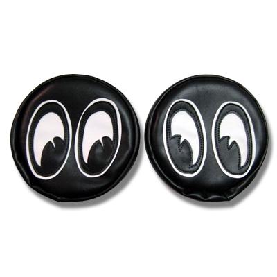 Hot Rod T Shirts >> Black Headlight Covers with Mooneyes Eyeballs: Hot Rod, Custom Buggy Head Light Covers