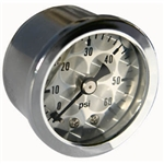 Engine-Turned FACIA Pressure Gauge 0-60 lbs
