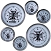 MOON Iron Cross 6 Gauge Set - White Face