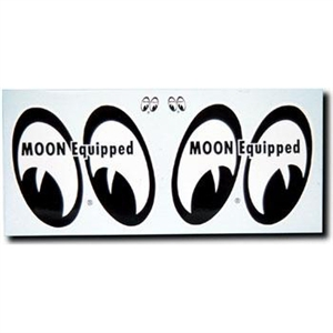 Moon equipped eyes decals right left 4 pair for Moon valley motor care