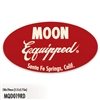 MOON Equipped Oval Sticker - Red