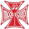 Moon Equipped Iron Cross Logo Sticker - Red