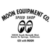 Moon Equip. Speed Shop Die Cut Decal - Black