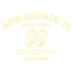 Moon Equip. Speed Shop Die Cut Decal - Ivory