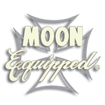 MOON Equipped Iron Cross Die Cut Decal - Ivory w/Silver