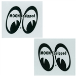 MOON Equipped Eyes Die Cut Decal - Black