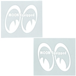 MOON Equipped Eyes Die Cut Decal - White