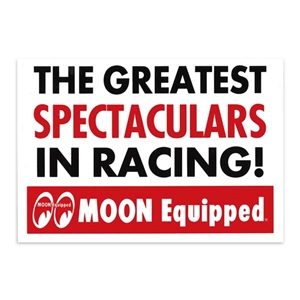 Moon equipped spectaculars sticker for Moon valley motor care