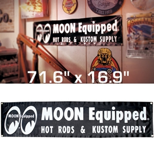 MOON Equipped Black Vinyl Banner