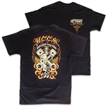 MCCS Moon Custom Cycle Shop T-shirt - Black