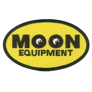 Mooneyes mqqn equipment oval embroidered patch for Moon valley motor care