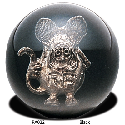 Rat Fink Black Ball Universal Shift Knob With Metal