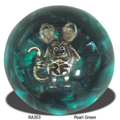 Rat Fink Shift Knob Green Pearl