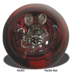 Rat Fink Shift Knob Marble Red