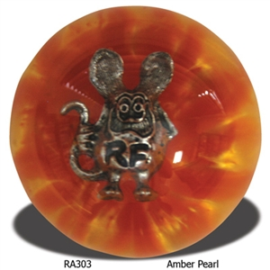 Rat fink shift knob amber pearl for Moon valley motor care