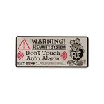 Rat Fink Security Sticker Label Warning Sign
