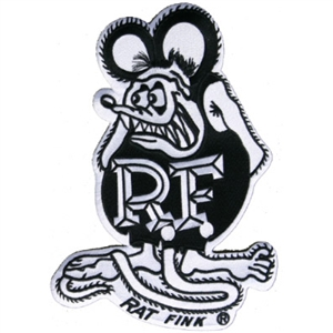 Rat Fink B&W Patch - Large