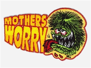 Rat Fink MOTHERS WORRY Patch