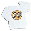 Kids MOON Logo on White Sweatshirt