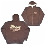 California Style Hooded Zip-up Jacket - Brown