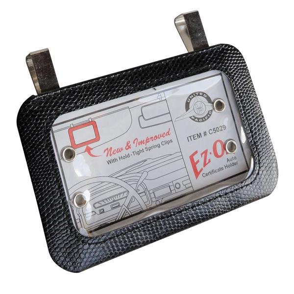 Car visor card holder