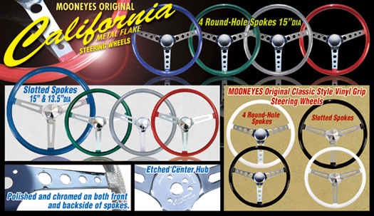 MOONEYES Original Metal Flake Steering Wheels