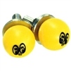 Yellow Moon Ball License Plate Bolts