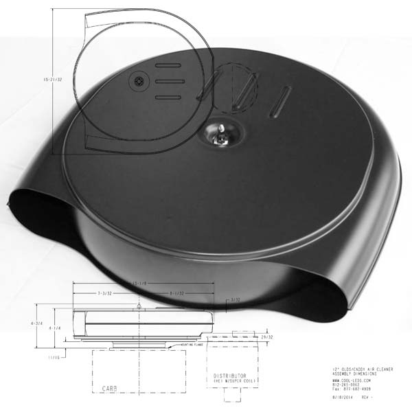 Mini 1951-56 Olds/Caddy Style Air Cleaner
